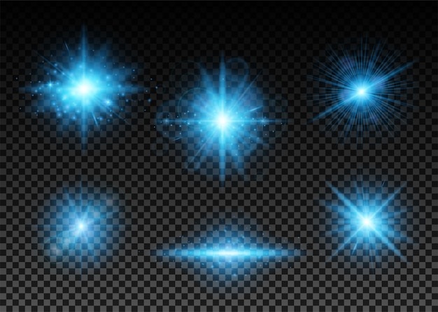 Conjunto de luces azules