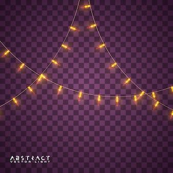 Conjunto de luces de navidad, luces brillantes para vacaciones