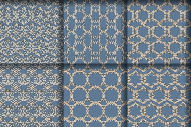 Conjunto de lujosos patrones sin fisuras