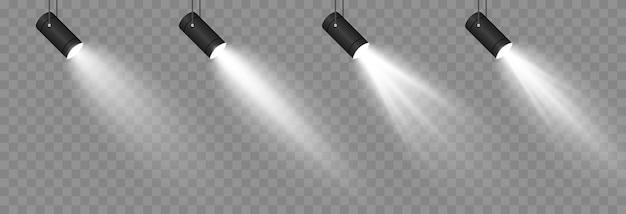 Conjunto de luz. efecto rayos de luz