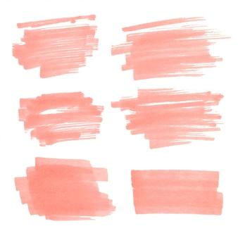 Conjunto de manchas de marcador