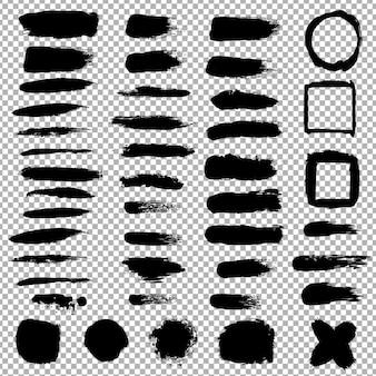 Conjunto de manchas negras, ilustración