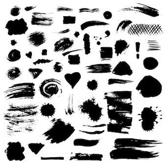 Conjunto de manchas de pintura vectorial.