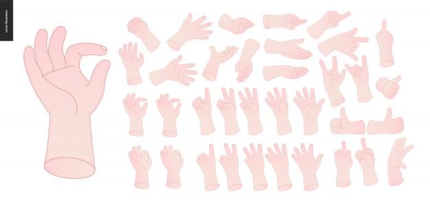 Conjunto de manos
