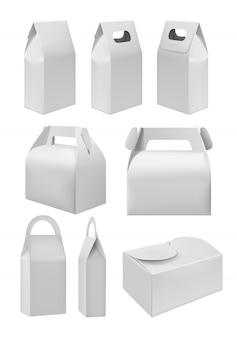 Conjunto de maquetas de caja de comida para llevar realista
