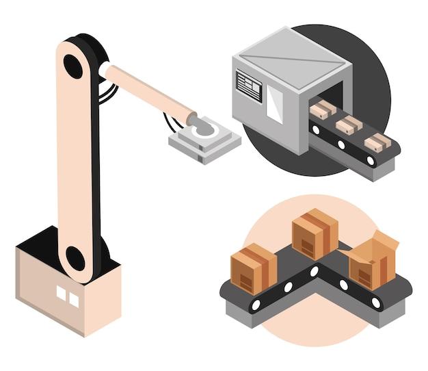 Conjunto de maquinaria automática industrial