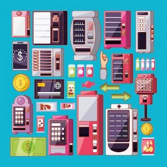 Conjunto de maquinas dispensadoras electronicas