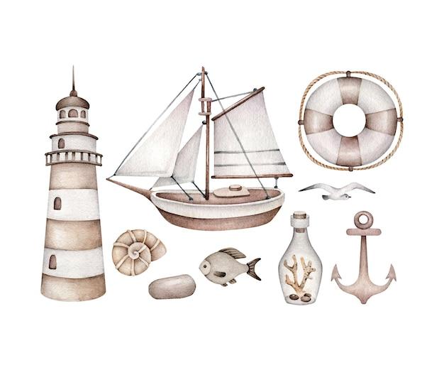 Conjunto de mar vintage