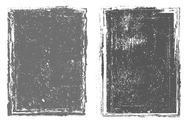 Conjunto de marco abstracto grunge