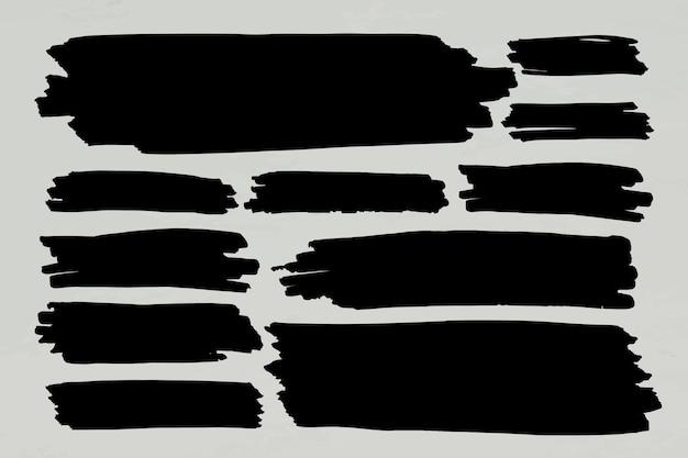 Conjunto de marco de banner de marcador negro