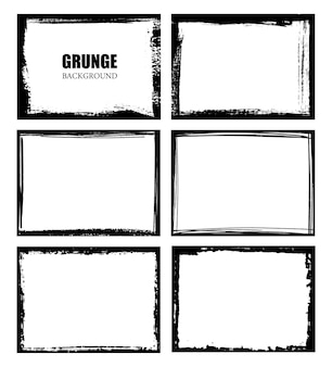 Conjunto de marco de borde grunge