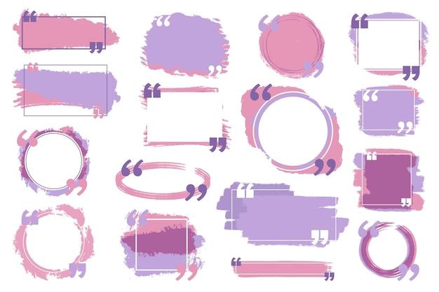 Conjunto de marco de cuadro de cotización pintado a mano