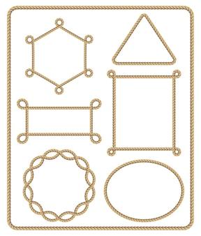 Conjunto de marco de cuerda marrón