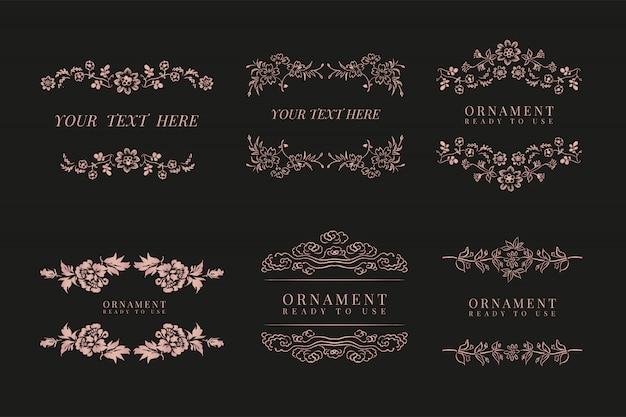 Conjunto de marco floral clásico