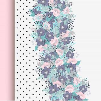 Conjunto de marco floral con flores de colores.