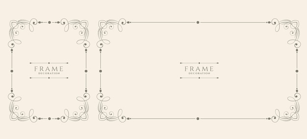 Conjunto de marco floral vintage decorativo estilo boda