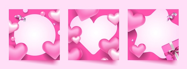 Conjunto de marco de foto de san valentín