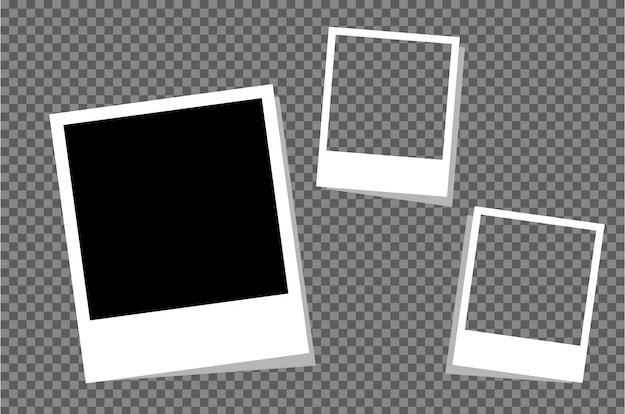 Conjunto de marco de fotos en blanco vintage