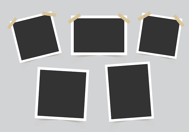 Conjunto de marco de fotos. maqueta para tus fotos.