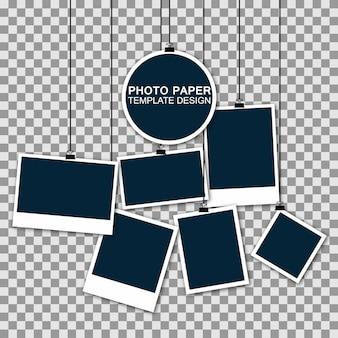 Conjunto de marco de fotos vintage con cinta adhesiva