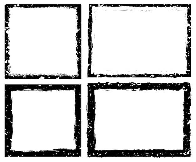 Conjunto de marco grunge
