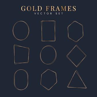 Conjunto de marco de oro