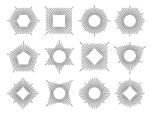 Conjunto de marco de rayos de sol mínimo.