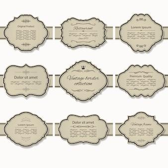 Conjunto de marco vintage