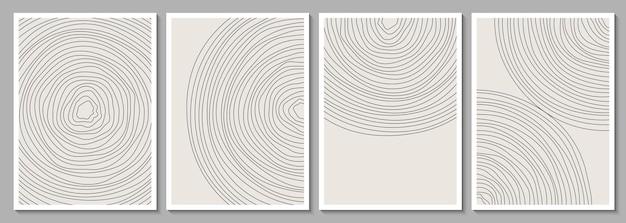 Conjunto de marcos abstractos minimalistas geométricos