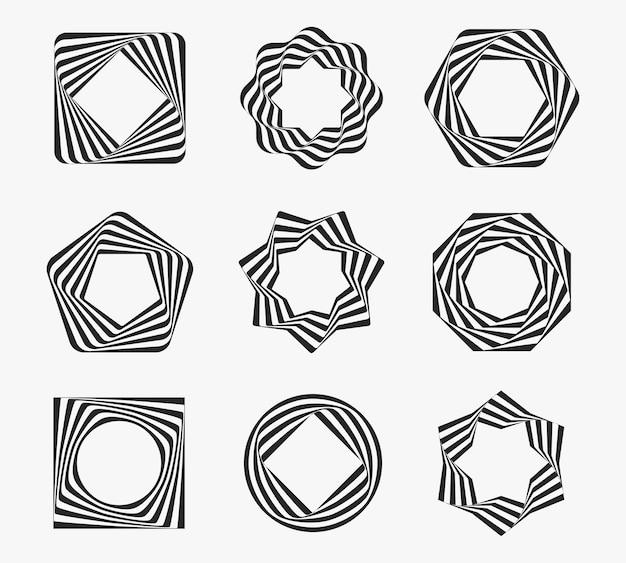 Conjunto de marcos de arte lineal