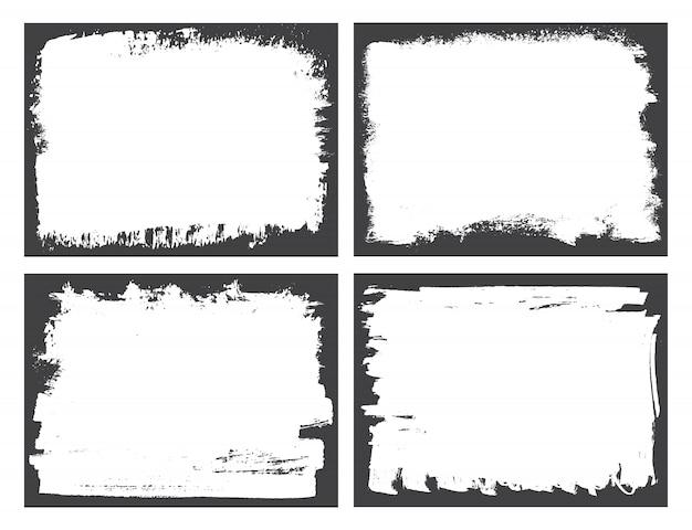 Conjunto de marcos de borde grunge