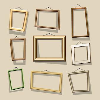 Conjunto de marcos de dibujos animados.