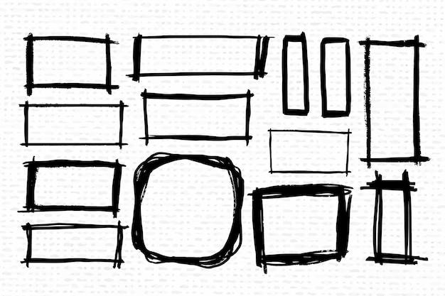 Conjunto de marcos de doodle