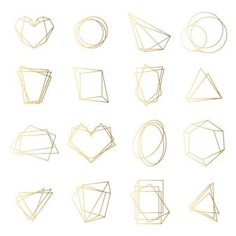 Conjunto de marcos dorados