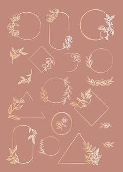 Conjunto de marcos florales