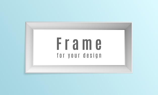 Conjunto de marcos de fotos realistas vintage aislado sobre fondo transparente.