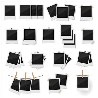 Conjunto de marcos de fotos retro