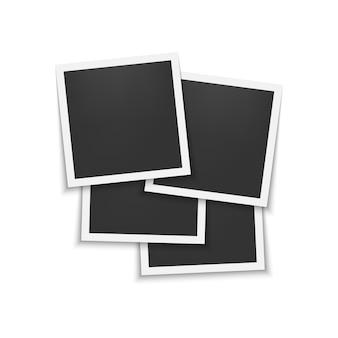 Conjunto de marcos de fotos con sombra.