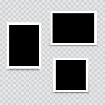 Conjunto de marcos de fotos. vector.