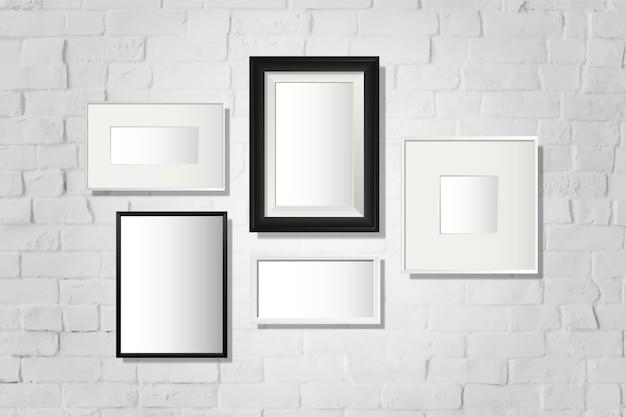 Conjunto de marcos de galería