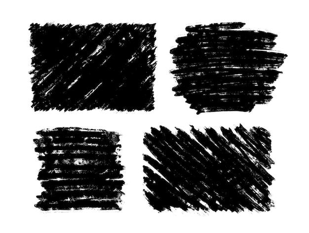 Conjunto de marcos grunge en forma cuadrada.