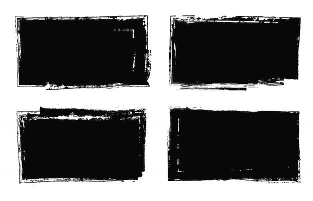 Conjunto de marcos grunge