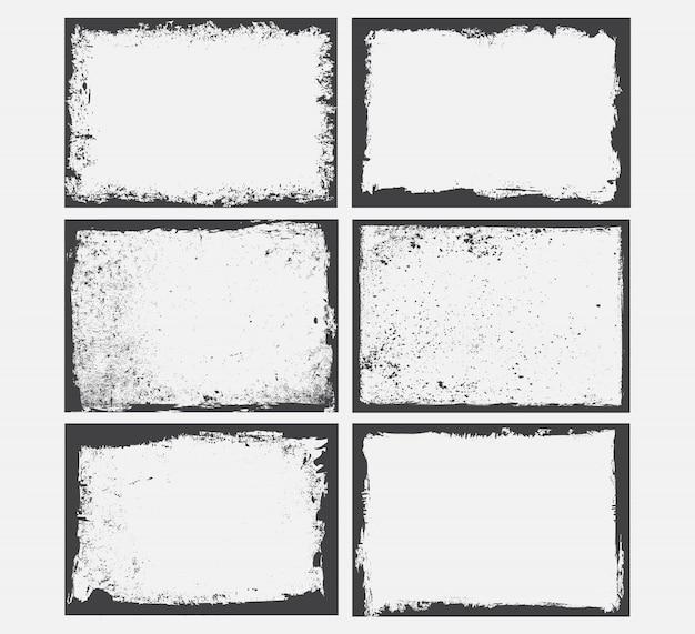 Conjunto de marcos de grunge