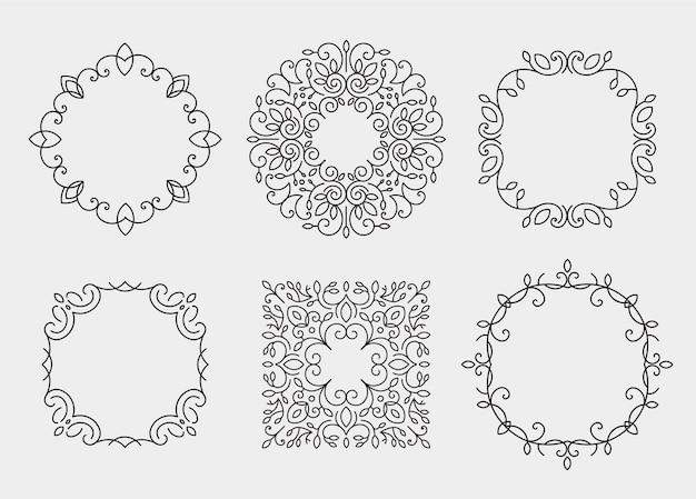 Conjunto de marcos de monograma