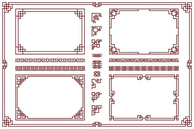 Conjunto de marcos orientales