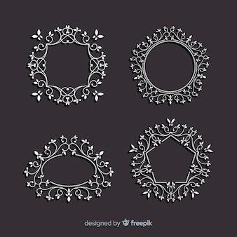 Conjunto de marcos ornamentales vintage
