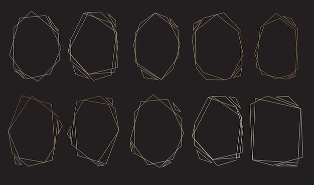 Conjunto de marcos poligonales.