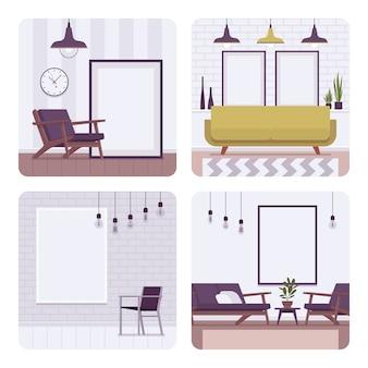 Conjunto de marcos retro interiores