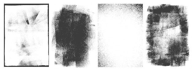 Conjunto de marcos retro rectangulares