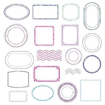 Conjunto de marcos de sellos.